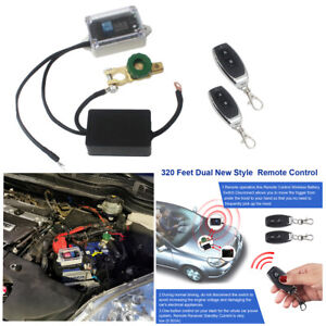 Dual Wireless Remote Control Car Battery Isolator Disconnect Master Switch Kits