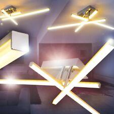 LED Lámpara de techo moderno cromo luces giratorias salon dormitorio comedor