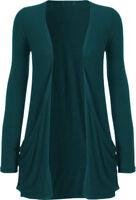 Women's Ladies & Girls Long Sleeve Boyfriend Cardigan With Pockets UK Size 8-28