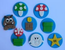 8 edible MARIO GAME theme cake cupcake topper DECORATION goomba BOO mushroom