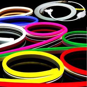LED Neon Stripes - Reflecting Flex 230V - RGB Controller - White Red