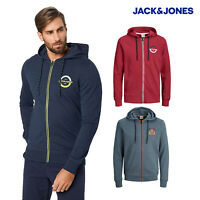 Jack & Jones Mens Regular Fit Sweat Long Sleeve Smart Strong Sweat Zip Hoodie