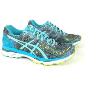 ASICS Gel Kayano 23 Womens Size 9 Running Shoes Blue Gray Aqua T6A5N