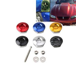 1x Car Auto Latch Push Button Quick Release Hood Bonnet Pins Lock Clip Universal