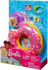 Barbie Donut Floaty Coffret Chien et Accessoires Poupée Plage Jouet Fille Mattel