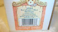 Cherished Teddies Bear w/Number 4 Block Mini Figurine 1997 Enesco Collectible 38