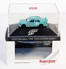 Herpa 036207, AMG Mercedes 190 E, DTM Junior Team,1:87, im Originalkarton#ab1502