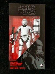"2015 New Sealed Star Wars 6"" Black Series 16 First Order Flametrooper"
