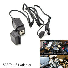 Dual Ports SAE to USB Adaptor Motorcycle Charger Socket For Cellphone Tablet GPS