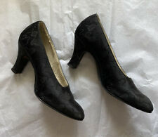 1920's True Vintage Black Flapper Shoes - Display, Costume, Resale