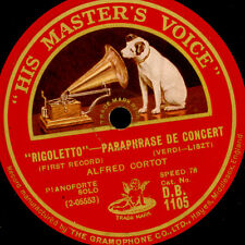 """Alfred Cortot-Piano-Verdi/Liszt: """"Rigoletto"""" paraphrase de concert 78 tr/min g3368"""