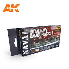 ROYAL NAVY CAMOUFLAGES paint set from AK Interactive