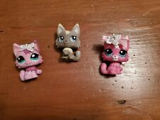 Rare Littlest Pet Shop Lps ~ 3 Wolf (Persian/Cat/Dog) #2465,#3561,#1411 - Used