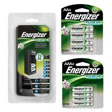 Energizer Chfc Universal Battery Charger w/ Aaa 4pk, Aa 4pk,