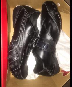 Puma Amoko 2 Vintage Unisex Leather Trainers Black Size 7 RRP £90