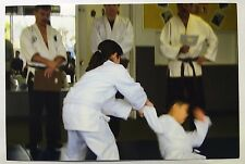 Vintage 90s PHOTO Girl Throwing Boy To Floor At Karate Martial Arts Class
