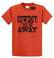 Cowboy Take Me Away T Shirt Distressed Country Music Graphic Tee