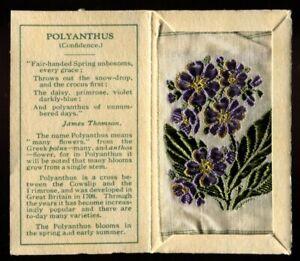 Kensitas Woven Silk Flowers, 1934, Small,1st Series,Folder Type C,POLYANTHUS,#44