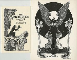 2 SGND Set THE BROECKER SAMPLER chapbook & NIGHT'S MASTER Print • Randy Broecker
