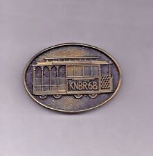 Vintage Knbr 680 Radio - Belt Buckle / Cable Car - Save The Cable Cars
