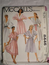 McCall's Women's Dress and Tie Belt Pattern# 8446 Size 12 1983