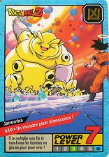 CARTE DRAGON BALL LE GRAND COMBAT N-¦ 610 JANEMBA POWER LEVEL 7