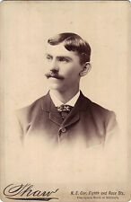1800s CABINET PHOTO OF AN ATTRACTIVE YOUNG MAN with Mustashe Very Clean