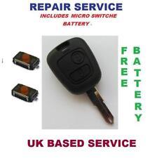 Peugeot 106 206 307 406 Remote Key Fob Repair Service