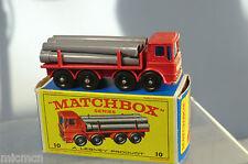 MATCHBOX Lesney modello No10d LEYLAND PIPE Truck Nuovo di zecca con scatola