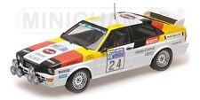 Audi Quatro #24 5th Lombard RAC Lacs 1982 Demuth Daniels 1 18 Minichamps