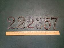 """Lot of 6 Vintage Bronze Brass House Numbers ~ About 3"""" Tall"""