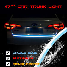 3 Color Flowing LED Light Strip Trunk Tailgate Light Turn Signal for Car Auto