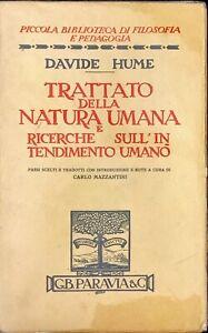 TRATTATO DELLA NATURA UMANA E RICERCHE SULL'INTENDIMENTO UMANO - PARAVIA&C