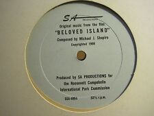 "MICHAEL SHAPIRO ORIGINAL MUSIC FROM THE FILM ""BELOVED ISLAND"" 12"" RARE PRIVATE"
