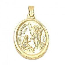BEAUTIFUL ST RAPHAEL ARCANGEL IN 18K GOLD OVER STERLING SILVER!!!
