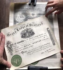 Authentic Freemason certification 1950