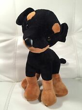 Rare Goffa Poseable Black Doberman Pincher Dog