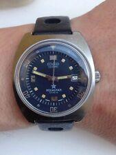 AQUASTAR Geneve SEATIME 1000 As 1902-03 Vintage Diver Rotating Inner Bezel Watch