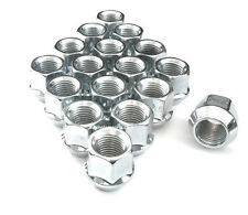 Lug Nuts Bulge Acorn Open End 12x1.75 Expedition F150 24 Pc Chrome Plated