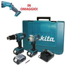 MAKITA KIT DK18015 TRAPANO E AVVITATORE 18V 3 BATTERIE + TORCIA GARANZIA ITALIA