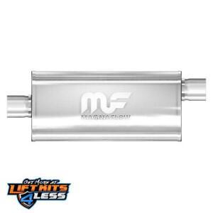 """MagnaFlow 12286 2.5"""" Inlet/Outlet SS Muffler for 2000-06 Audi TT/87-95 BMW 325i"""