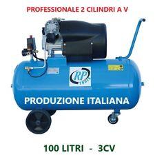 COMPRESSORE D'ARIA 2 CILINDRI 100 LT  AB 100LT M 230V 3 CV PROFESSIONALE ITALIA