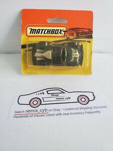 1983 Matchbox VW Volkswagen Beetle Sand Digger Dune Man -Green- Rare Short Card