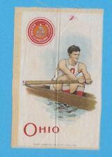 c1910s S22 Murad Cigarettes tobacco silk OHIO STATE UNIVERSITY Rower  Crewe