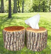 Nature Tree Ring Wood Log Slab Soft Tissue Paper Toilet Roll Holder Home Novelty