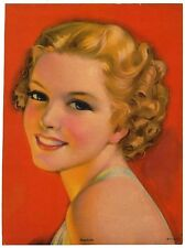 "Rosebuds 1930s Glamour Girl art deco print 7.5"" x 10"" Ӝ"