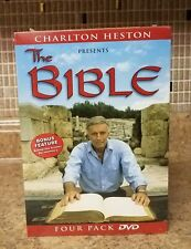 Charlton Heston Presents the Bible 4 Four pack DVD Sealed Moses Passion Jesus +