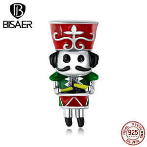 Bisaer Women Authentic S925 Sterling Silver Guard of Honor Charms Fit Bracelets