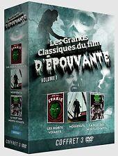 Coffret 3 DVD Les Grands Classiques du film d'épouvante vol 1