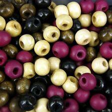 7x8mm Bois Perles, 50 Grammes, environ 400 perles, beading, MACRAME WM3
